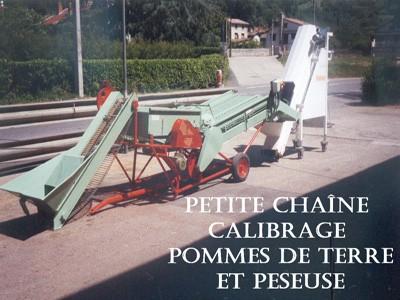 Petite chaîne calibrage PDT et peseuse