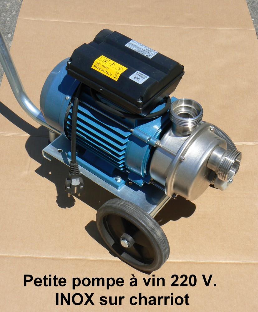 Petite pompe à vin 220 V.