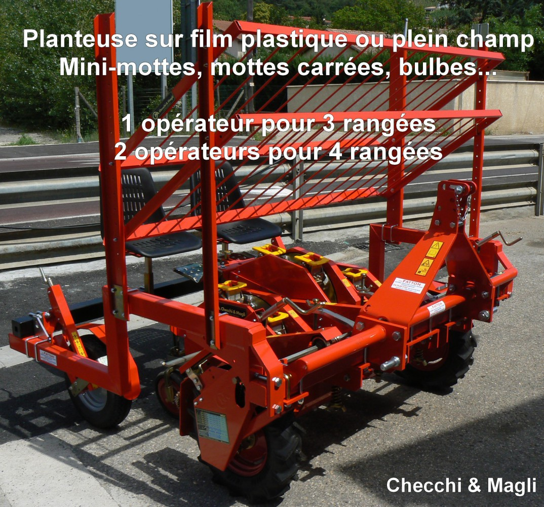 Planteuse à légumes sur film plastique ou plein champ Checchi & Magli