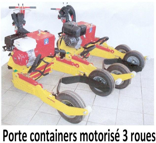 Porte containers motorisé 3 roues