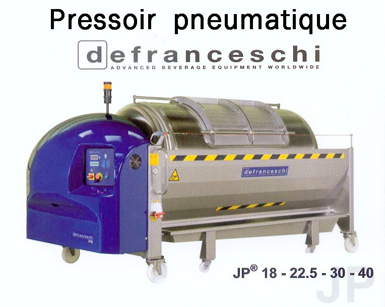 Pressoir pneumatique DEFRANCESCHI