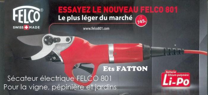 Sécateur électrique FELCO 801