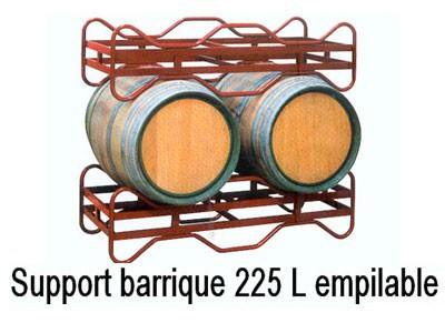 Support barrique 225L empilable