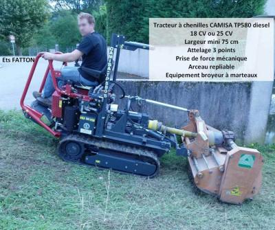 Tracteur à chenilles CAMISA TP580 diesel
