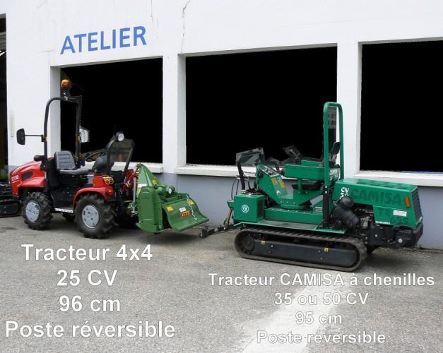 Tracteur CAMISA à chenilles