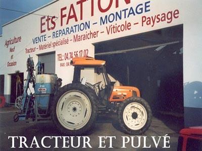 Tracteur et pulvé