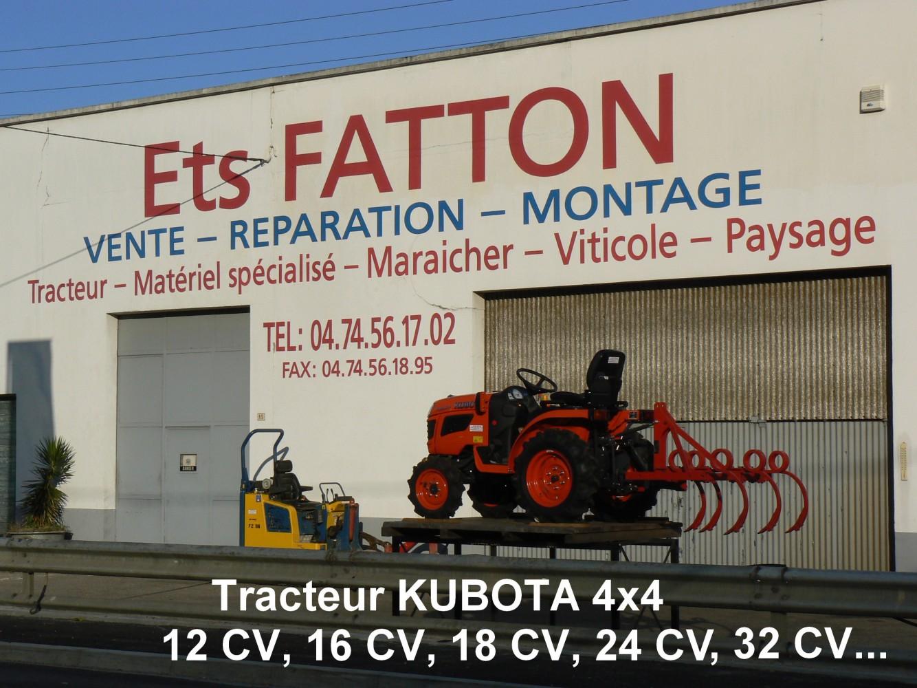 Tracteur KUBOTA 4X4