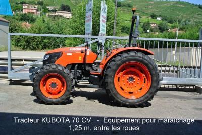 Tracteur KUBOTA 70 CV.