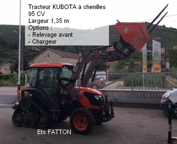 Tracteur KUBOTA à chenilles