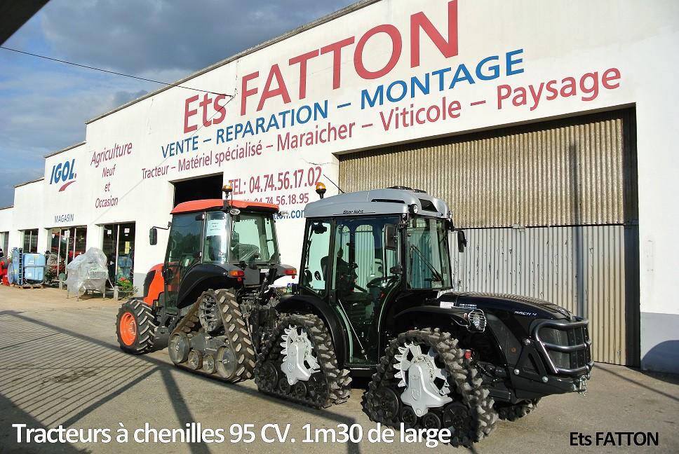Tracteurs à chenilles 95 CV