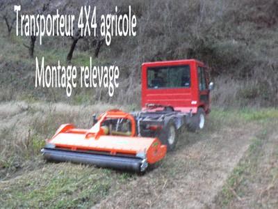 Transporteur 4x4 agricole, montage relevage