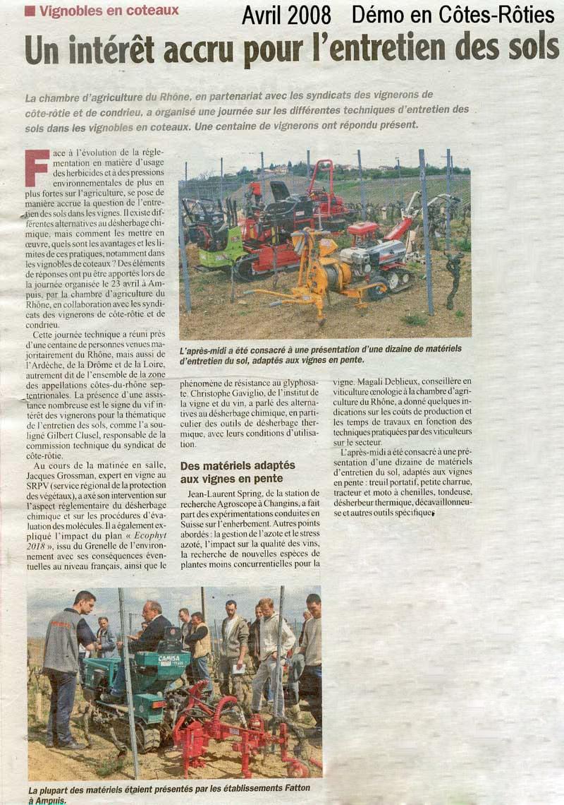 Démonstration en Côtes-Rôties